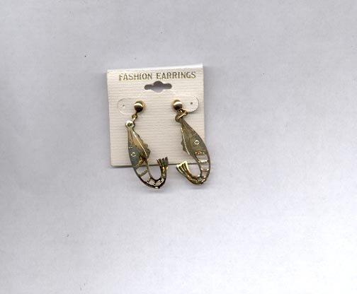 Goldtone pierced earrings (# 86)