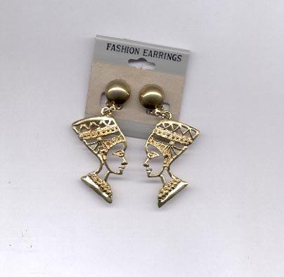 Goldtone head clip on earrings (#168)