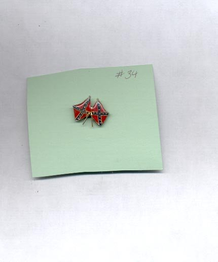 Double Flags  hat (lapel ) pin (#34)