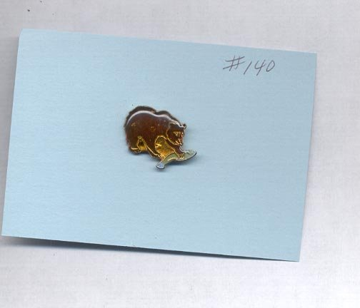 Bear  hat (lapel ) pin (#140)