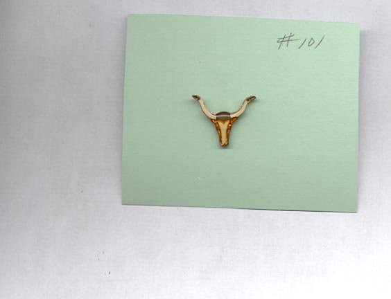 Steer horns  hat (lapel ) pin (#101)