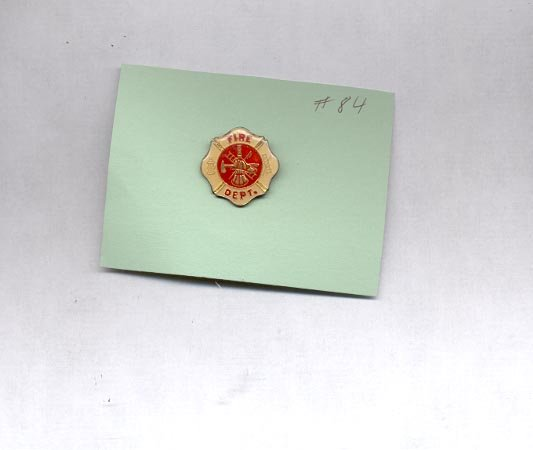 Fire Dept.  hat (lapel ) pin (#84)