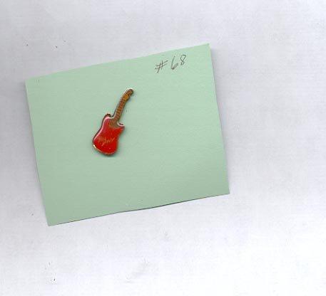 Red Guitar  hat (lapel) pin (# 68)