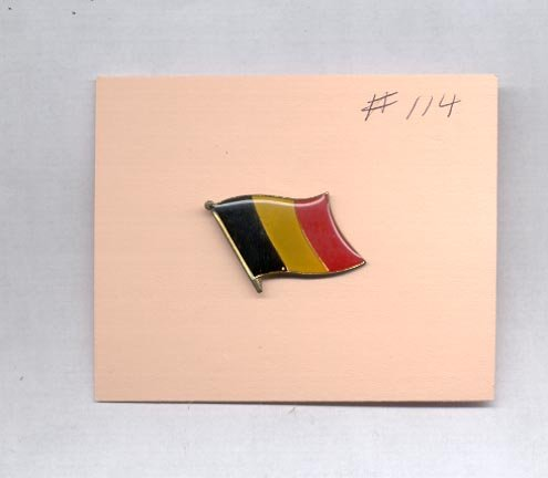 Flag Red yellow, Blue  hat (lapel) pin (#114)