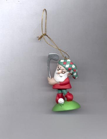 Avon Elves' Day Off Ornament- Golf