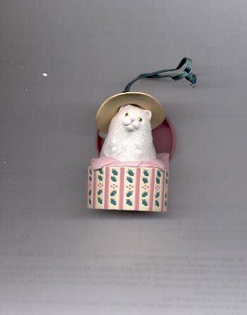 Avon Christmas Dress Up Ornament- Hat Box