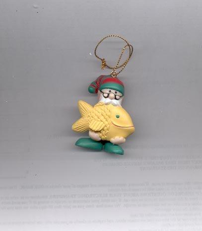 Avon Elves' Day Off Ornament-  Fishing