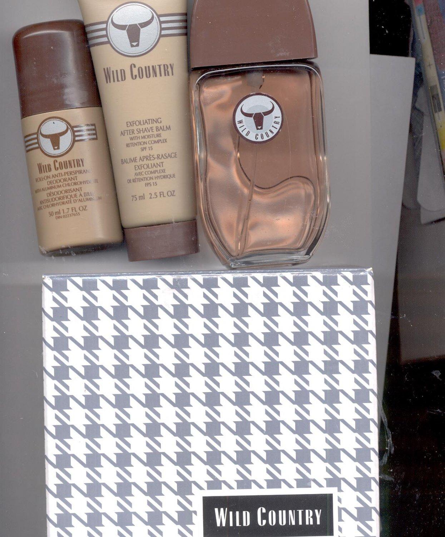 AVON Wild Country Gift Set- Cologne, Deodorant-- Vintage