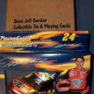 Avon JEFF GORDON COLLECTIBLE TIN w/ cards
