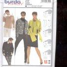 Burda pattern 8299 Jacket    Sizes  10-22   uncut