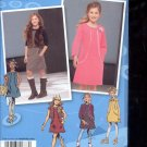 Simplicity Pattern 1787 Girls  jumper or dress and vest- sizes AA- 8-16 uncut