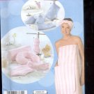 Simplicity Pattern 4747 Misses Bath Wrap and Accessories   sizes A- XS,-XL uncut