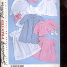 Simplicity Pattern 2629 Babies  Layette and bonnet - sizes A- XXS- L uncut