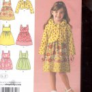 Simplicity Pattern 2680  Girls Dress or jumper and jacket sizes A- 3-8 uncut