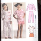 Kwik- Sew 3831  Girls Sleepy-time Pajamas  sizes- XS- XL uncut