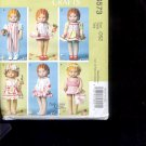 "McCalls Pattern Crafts   M6573 - Clothes for 18"" Doll   sizes-    OSZ uncut"