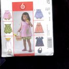 McCalls Pattern M4757-  Toddlers  top, dress, panties, - size CF  4-6   uncut