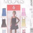 McCalls Pattern M4767-  Girls Dresses , - size CH  7-10   uncut