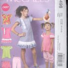 McCalls Pattern M6498 Girls   tops, dress, skirt, pants,- size CCE- 3-6    uncut