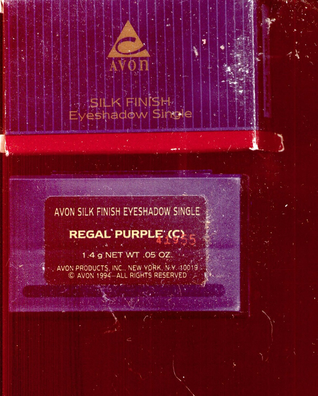 Avon Silk Finish eyeshadow single- Regal Purple- - VINTAGE