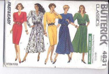 Butterick pattern 4831 Misses/ Misses' Petite Dress   Size 8-10-12