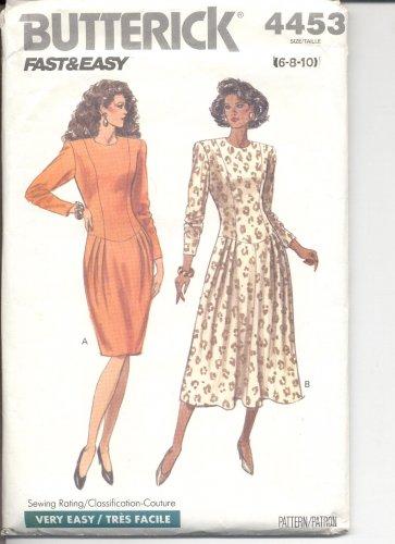 Butterick pattern 4453  Misses Dress Size 6-8-10