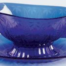 Avon ROYAL SAPPHIRE  GRAVY BOAT WITH UNDER TRAY