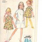 Simplicity pattern 7741  Childs and girls  Jiffy Dress   Size 6
