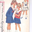 Simplicity pattern 5812  Childs and girls two piece dress and collar  Size 6