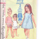 Simplicity pattern 6039 Child's Jiffy Dress or top and shorts- Size 6