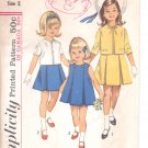Simplicity pattern 5341  Childs  one piece dress and jacket-  Size 5