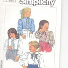 Simplicity pattern 7013  Childs Blouse-   Size 3-4-5