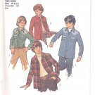 Simplicity pattern 6641  Boys unlined shirt-jacket-   Size 10-12