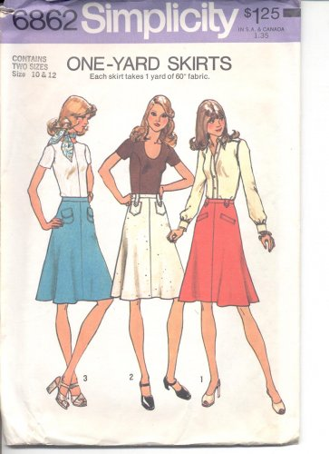 Simplicity pattern 6862   Misses skirts.-  Size 10-12