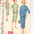 Simplicity pattern 2600  Jr. Misses and Misses  two-piece Dress-  Size 12