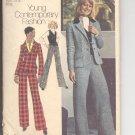 Simplicity pattern 6530  Misses  three-piece pantsuit -  Size 8