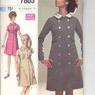 Simplicity pattern 7805   Juniors / Misses Coat Dress -  Size  9