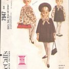 McCalls  pattern 7947  Childs  Coat, Dress and jumper -  Size 6X