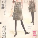 McCalls  pattern 7982    Girls Dress or jumper and Blouse-  Size 6