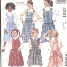 McCalls  pattern 4351   Girls Jumpers and Jumpsuit-  Size 8