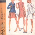 McCalls  pattern 9589   Misses and Jr. Ensemble: Dress and Jacket -  Size 8