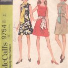McCalls  pattern 9754  Misses  and Junior Dress and scarf or sash-  Size 8