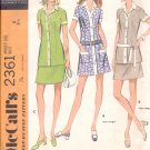 McCalls  pattern  2361   Misses  Dress or top and skirt -  Size 8