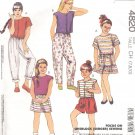 McCalls  pattern 4820   Girls tops, skirt, pants, or shorts-  Size CH (7-8-10)