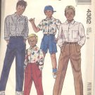 McCalls  pattern 4382-  Childrens and Boys shirt, pants and shorts-  Size 8