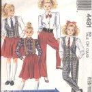 McCalls  pattern 4491  Girls vest, blouse, skirt , pants -  Size  CH (7, 8, 10)