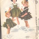 McCalls  pattern 5527  Childs three way dress with attached petticoat -  Size  6