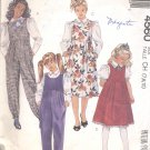 McCalls  pattern 4560   Girls Jumpsuit, Jumper and Blouse-  Size CH (7,8,10)