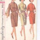 Simplicity pattern 6040   Misses one-piece dress-  Size  12