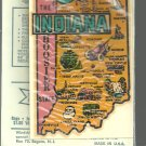 Vintage style Decal Sticker-  Indiana- The Hoosier State- NOS